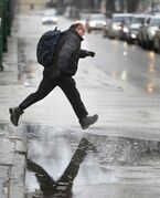 Ten to 15 millimetres of rain and winds gusting to 60 kilometres per hour are forecast for today.