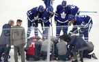 Leafs GM Dubas says Tavares also suffered knee injury in hit, calls out 'disgusting' newspaper cover