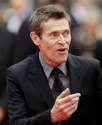 Jury member Willem Dafoe arrives for the screening of Jimmy's Hall at the 67th international film festival, Cannes, southern France, Thursday, May 22, 2014. Dafoe co-starred with Philip Seymour Hoffman in one of his final screen roles, the John le Carre-derived spy thriller