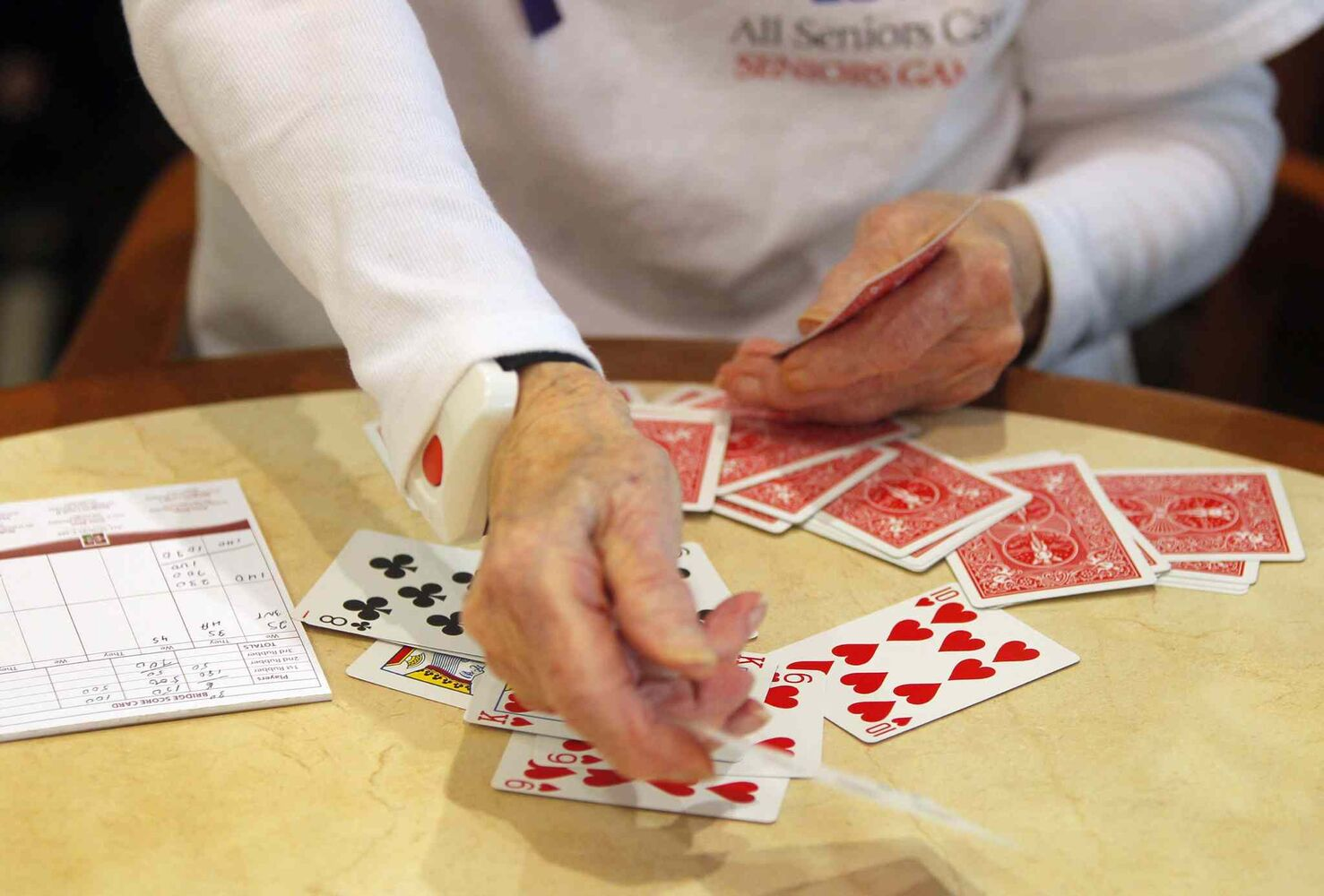 Residents at Shaftesbury Park Retirement Residence are taking part in the All Senior Care Games 2014 this week. It's the fifth year for the games, which see Seniors play bridge, Wii bowling, bocce and shuffleboard. Open ceremonies were Monday and the games end Friday. (Boris Minkevich / Winnipeg Free Press)