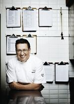 Grand Chef Relais & Chateaux Normand Laprise, shown in this undated handiout photo, is a celebrated chef, TV personality and cookbook author, yet the Montreal restaurant owner is never too busy to take time out for mentoring, and the younger, the better. Teaching people about food, whether they're apprentice chefs or children, is just part of his philosophy, yet it's become a component of his business, says the co-owner of Toque! and Brasserie T! in Montreal. THE CANADIAN PRESS/HO - TILT.ca, Dominique Malaterre