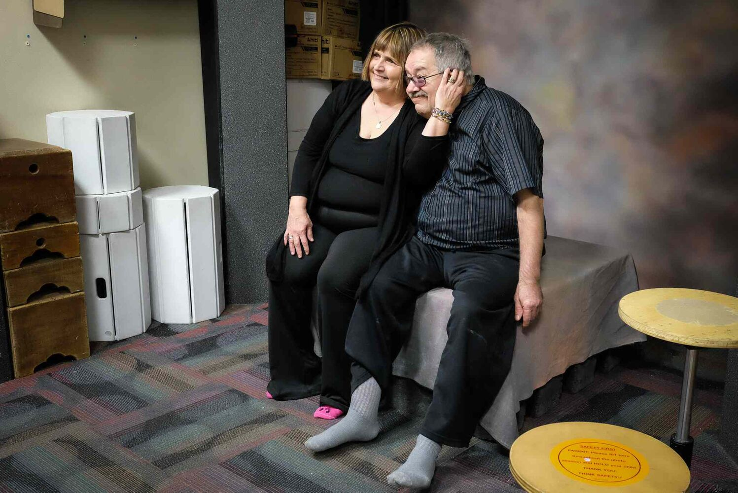 """One of the activities that Cathy planned for their """"Love Day Outing,"""" was to get a new portrait taken at a local studio. MIKE DEAL / WINNIPEG FREE PRESS"""