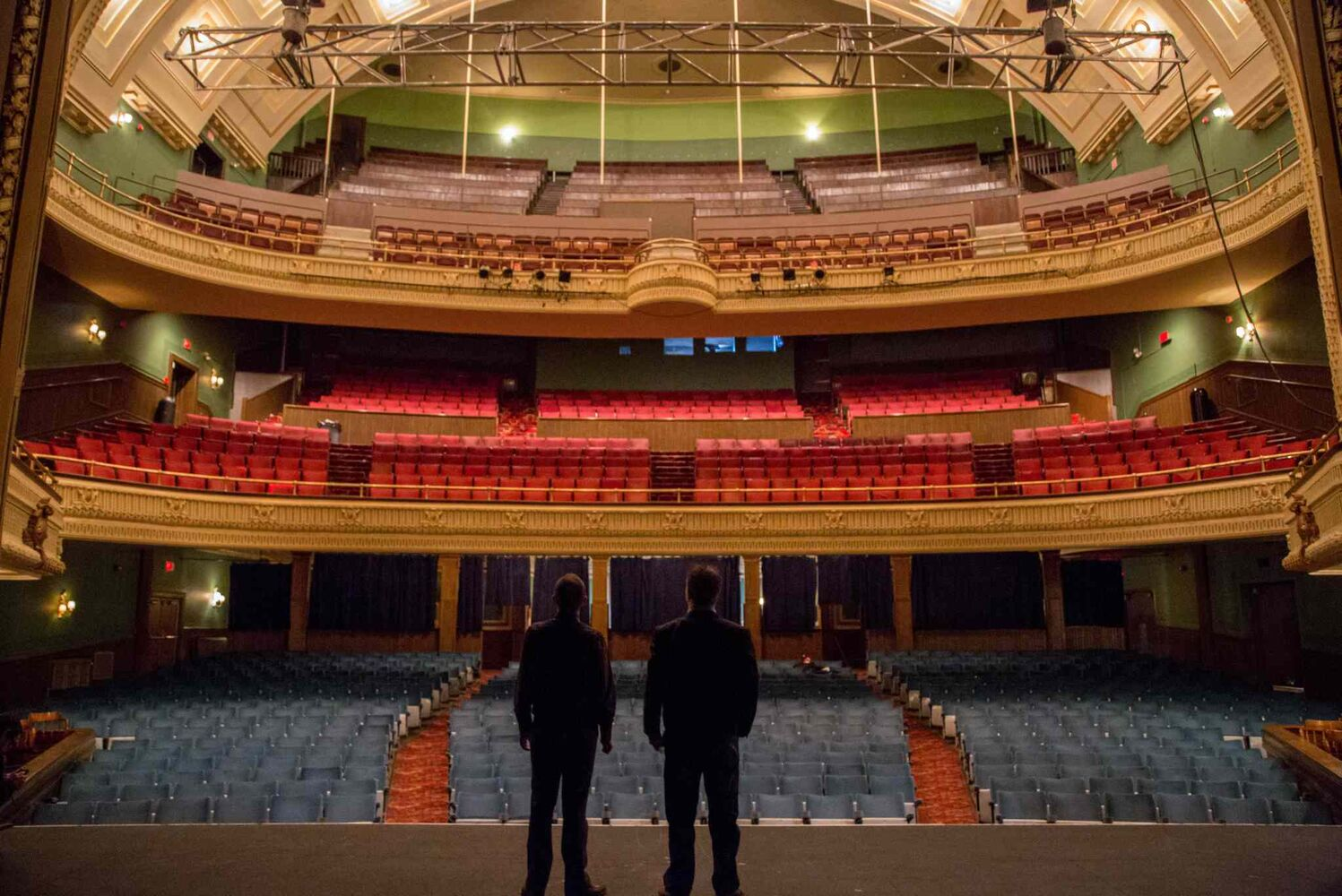 A performer's view of the Burton Cummings Theatre. (Crystal Schick / Winnipeg Free Press)