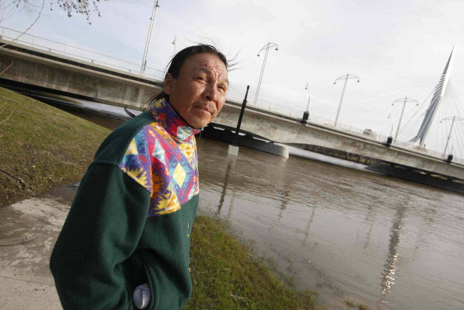 Faron Hall gained national attention after saving two people from the Red River in 2009. His body was found in the river this past weekend. (BORIS MINKEVICH / WINNIPEG FREE PRESS Files)