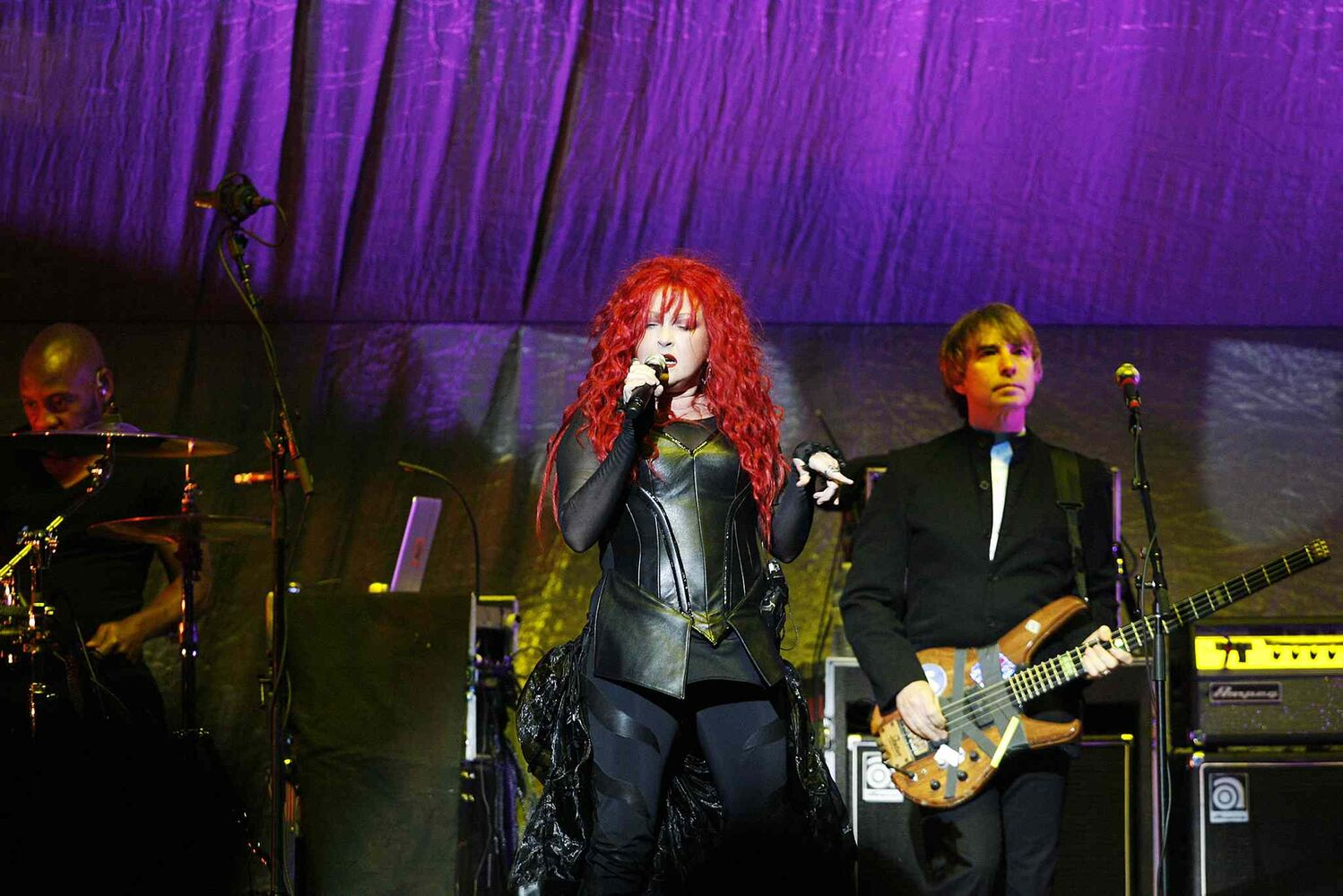 Opener Cyndi Lauper's set was part high-energy songs, party comedy routine.