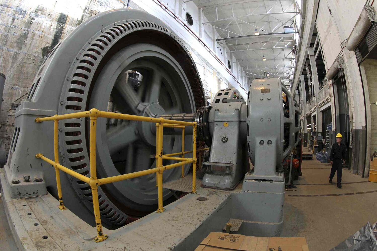 The power plant that houses all the generators that produce the electricity for Winnipeg. Much of the equipment is original and very outdated.  MIKE DEAL / WINNIPEG FREE PRESS