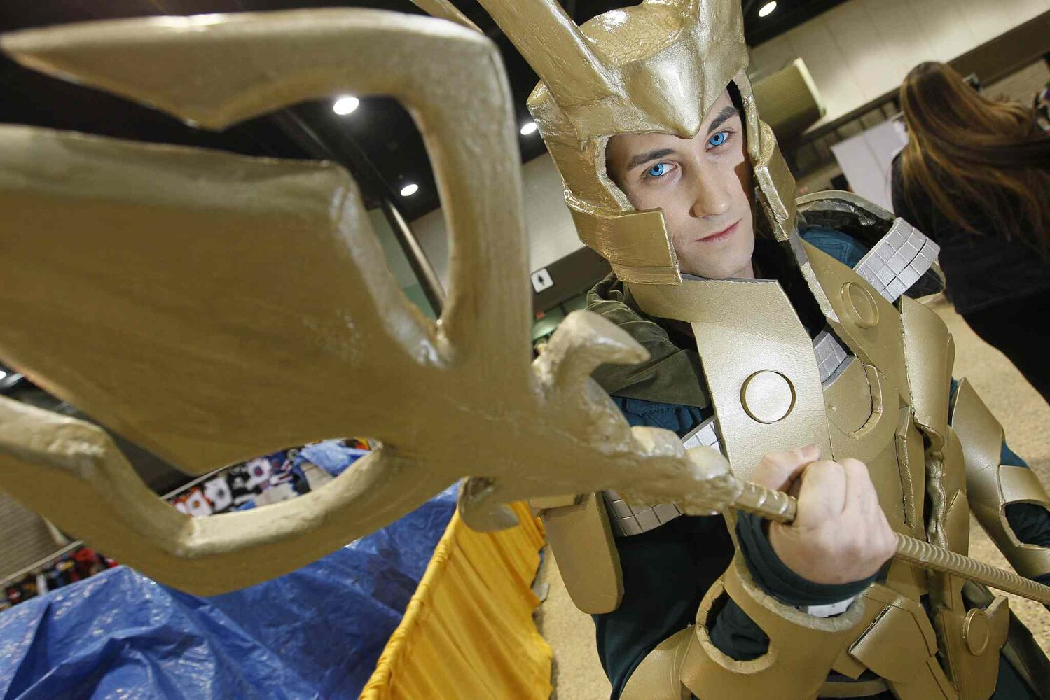 Michael Couchman is dressed as Loki at the opening day of C4. (John Woods / Winnipeg Free Press)