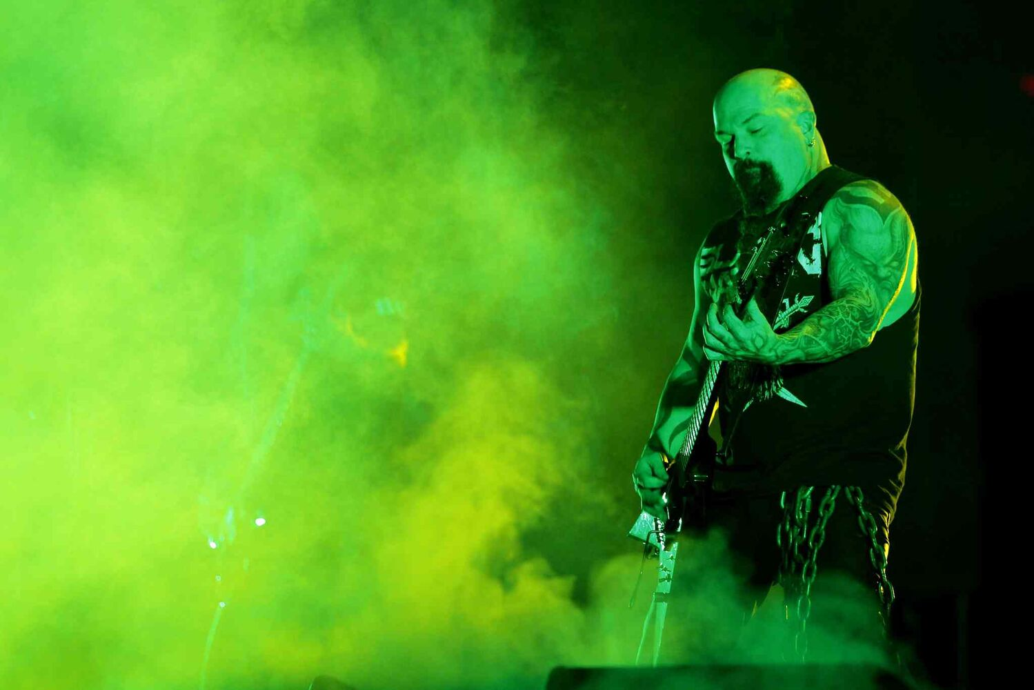 Guitarist Kerry King brings the riffage.