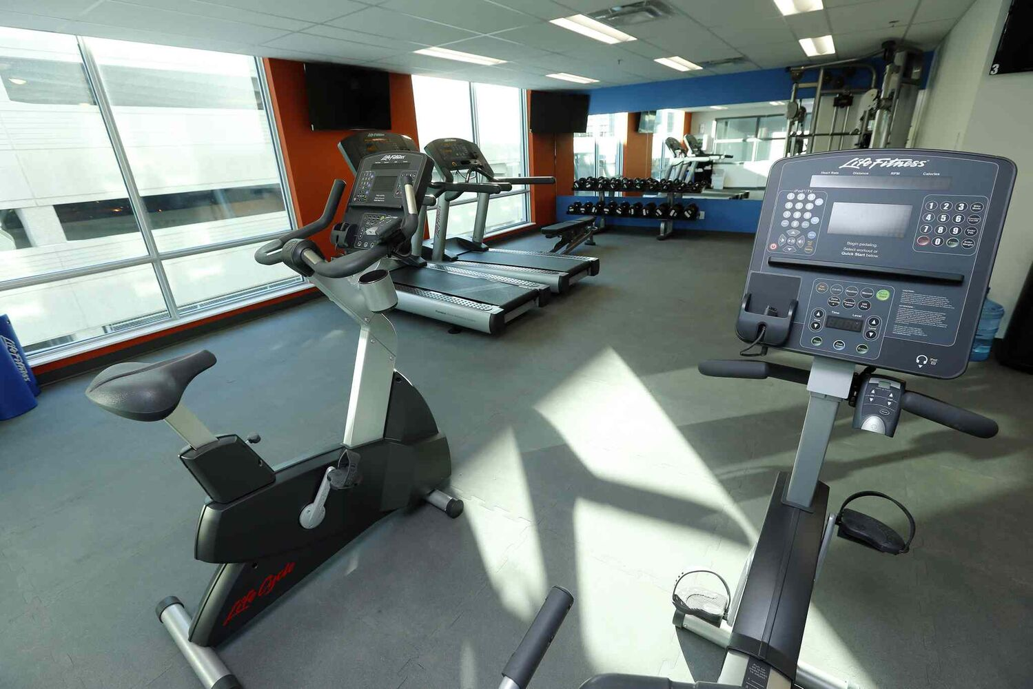 The exercise room .