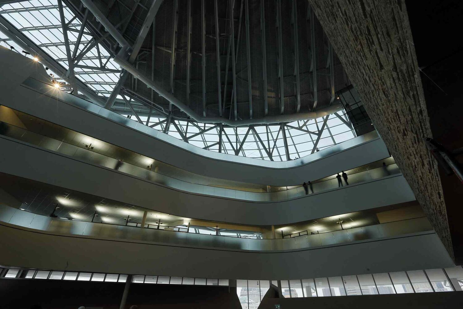 Office levels as seen from the second-level Garden of Contemplation. (KEN GIGLIOTTI / WINNIPEG FREE PRESS)