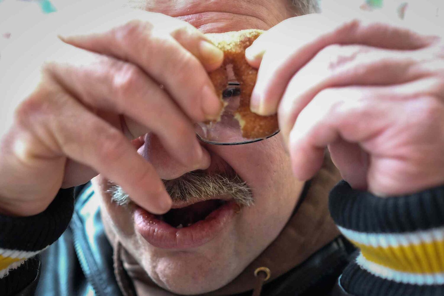 Whenever Cathy and Tom go to The Forks they get mini-donuts as a treat. Tom loves his mini-donuts.