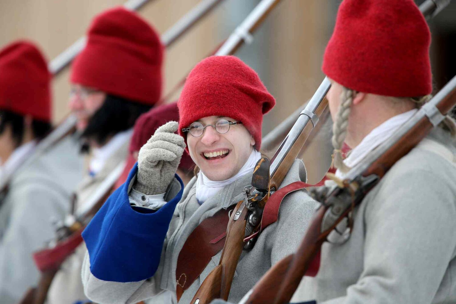 Events at the Festival du Voyageur on Sunday included a historical reenactment between la Compagnie de La Verendrye and The Forces of Lord Selkirk