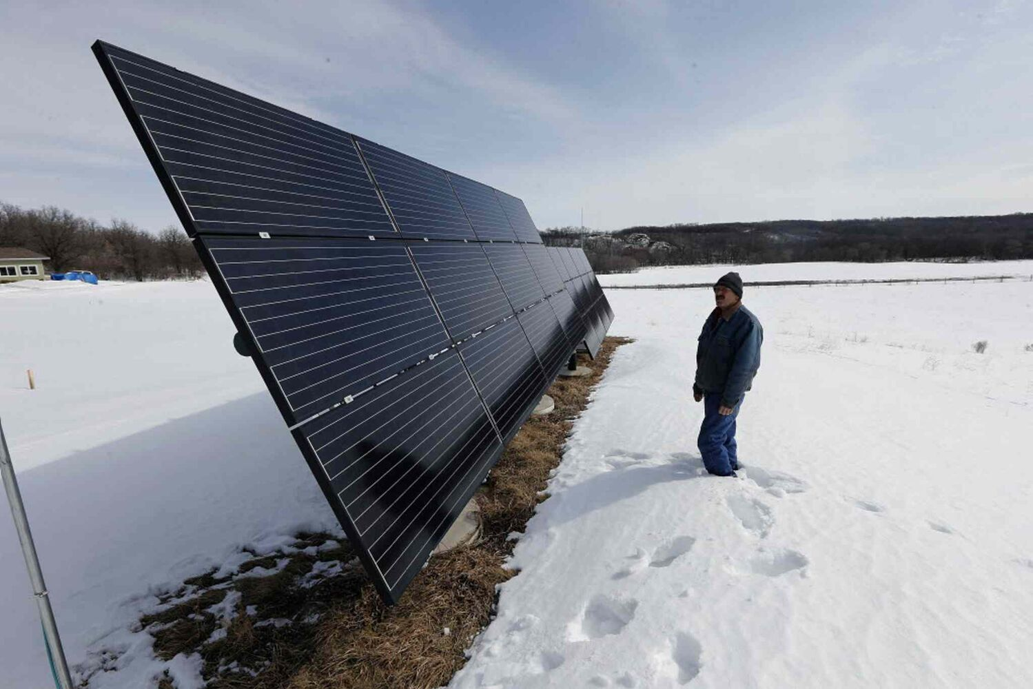 Solar panels that power the home. (KEN GIGLIOTTI / WINNIPEG FREE PRESS)