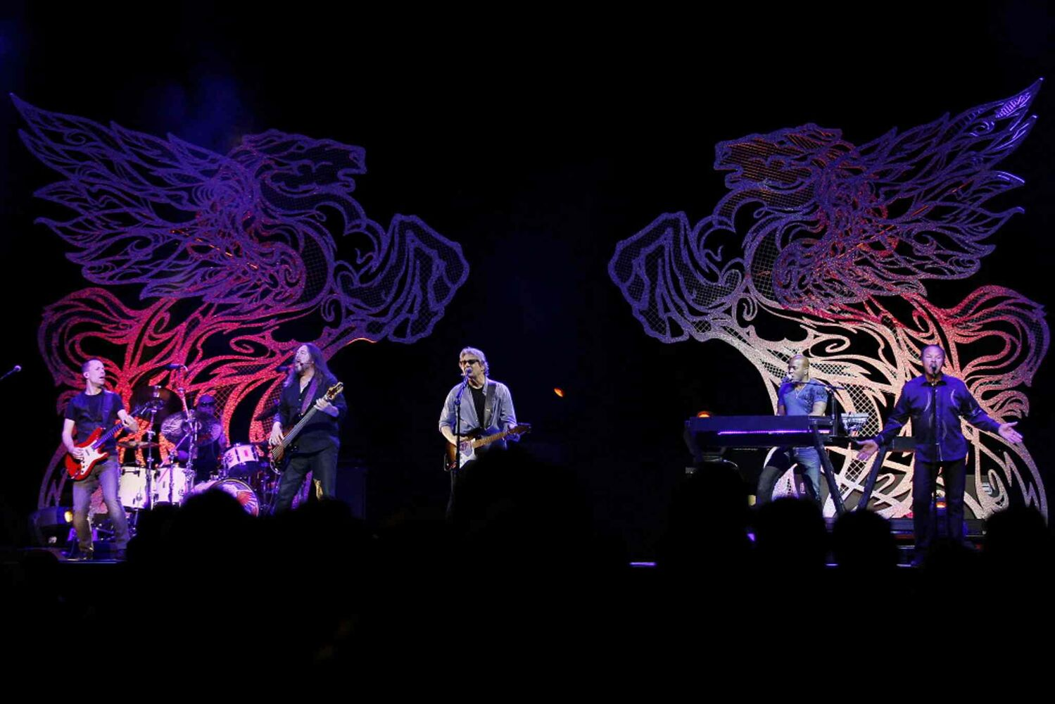 The backdrop was adorned with SMB's famous pegasus logo.  (John Woods / Winnipeg Free Press)