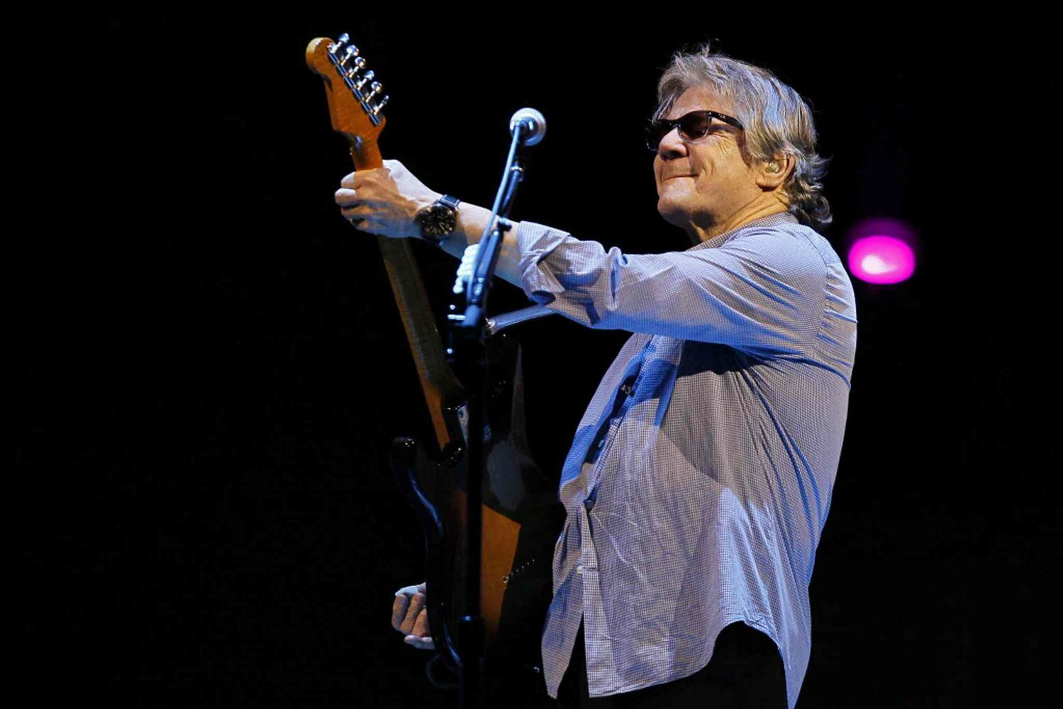 Steve Miller showing off some classic rock star moves.