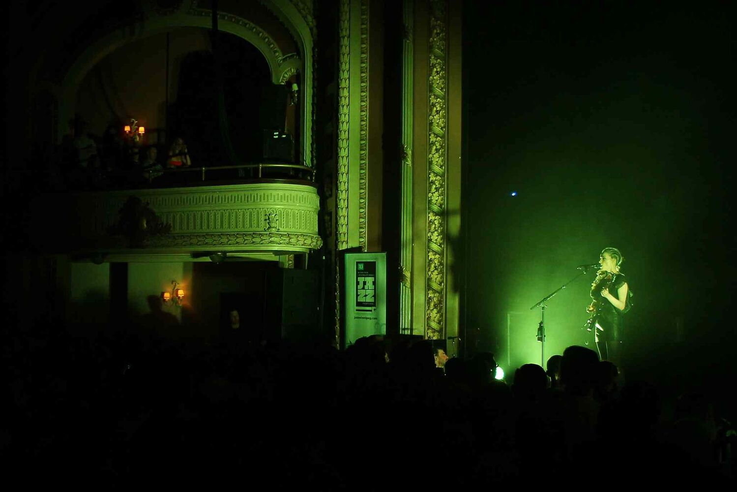 St. Vincent performs at The Burton Cummings Theatre.