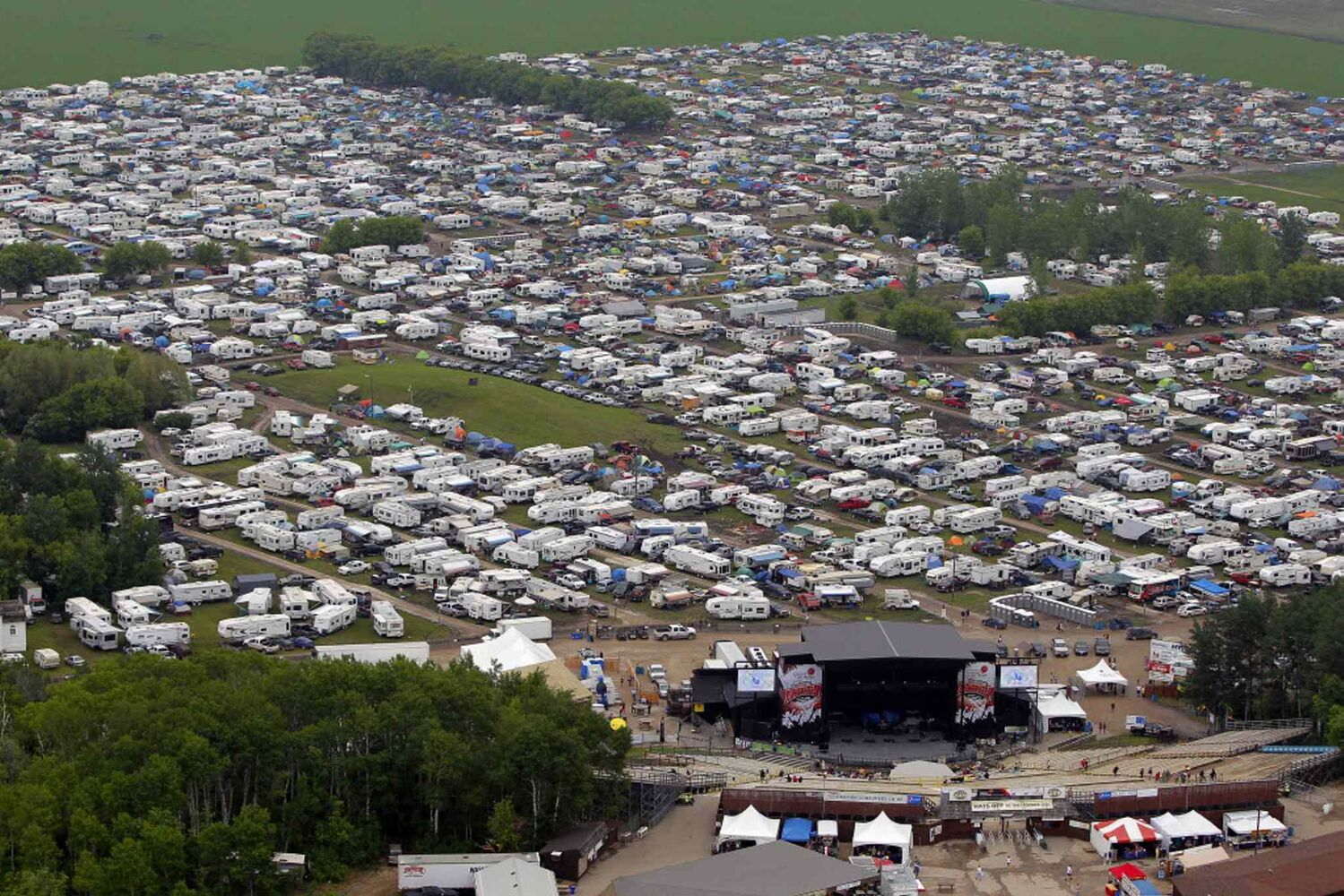 An aerial view of the festival site taken during a chopper ride from Gimli-based Prairie Helicopters.