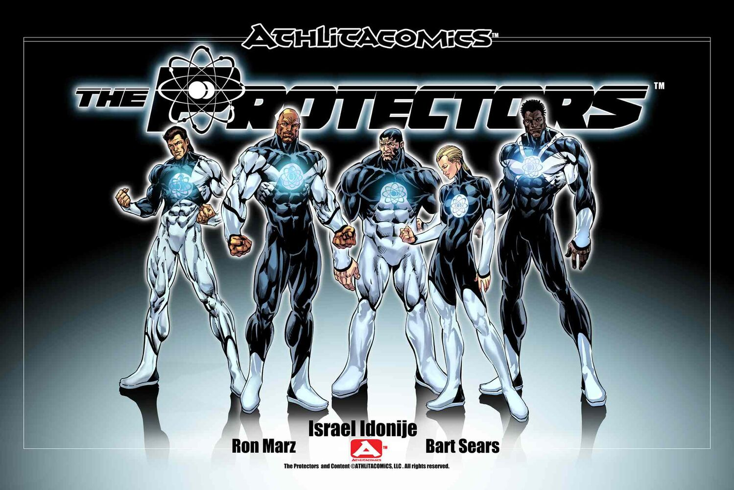 The Protectors chronicles a group of athletes who find out they also have superpowers and set about trying to save the world. (Courtesy of Athlitacomics)