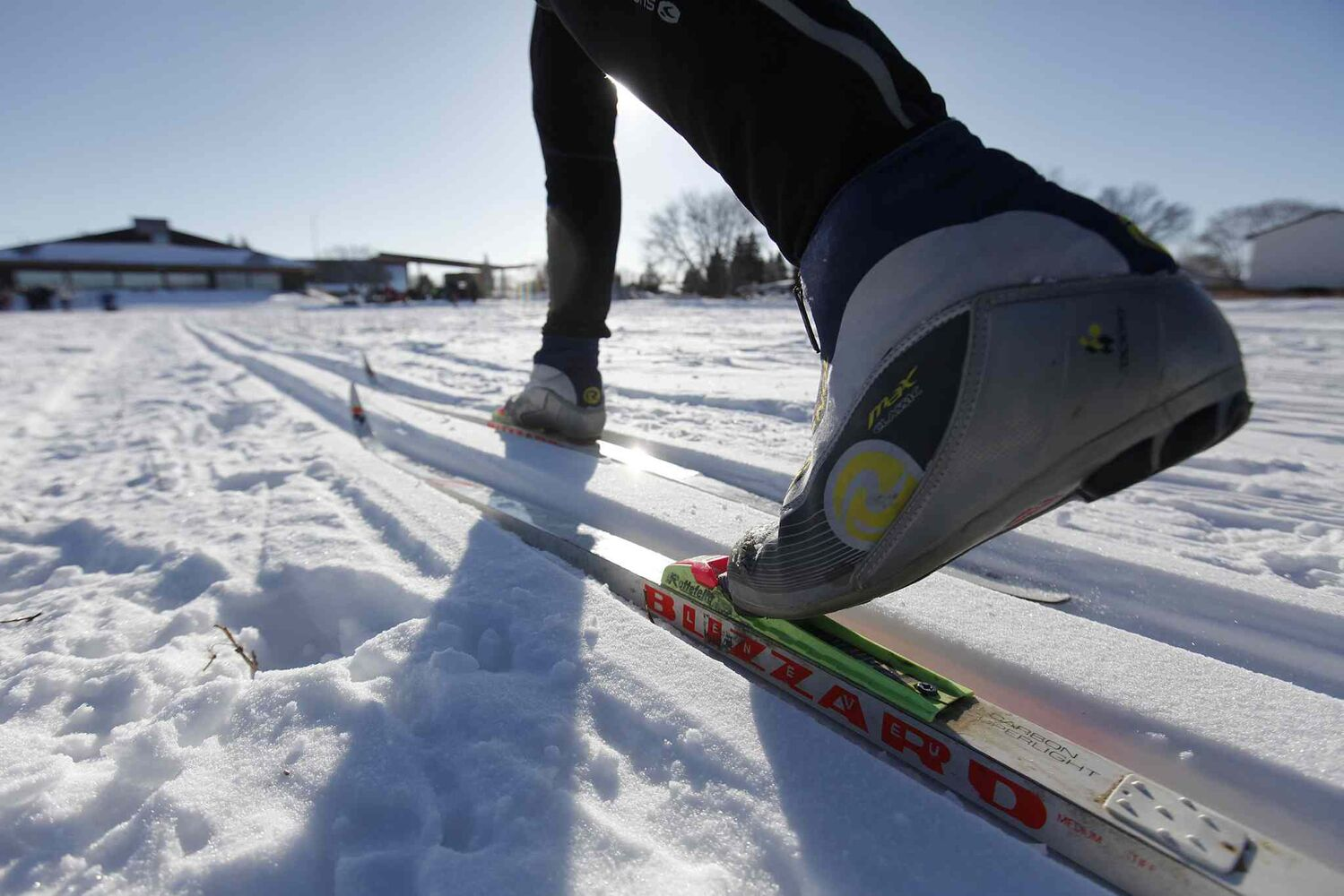 A cross-country skier takes part in the fifth annual Snow Trek at Living Prairie Museum in Winnipeg Sunday. Participants came out and enjoyed cross-country skiing, snowshoeing, geocaching and snow art.