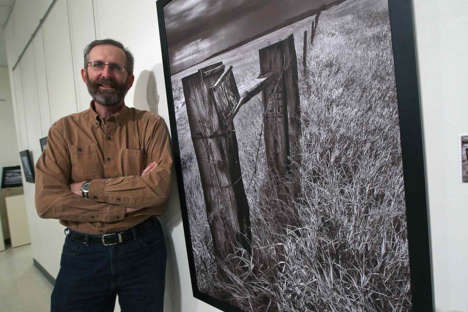 Manitoba farmer-turned-photographer Stan Wiebe, 54, has a wonderfully disquieting exhibit of 46 photos, Almost Black and White, on display at Portage La Prairie's Portage and District Arts Centre until Feb. 14. (JOE BRYKSA / WINNIPEG FREE PRESS)