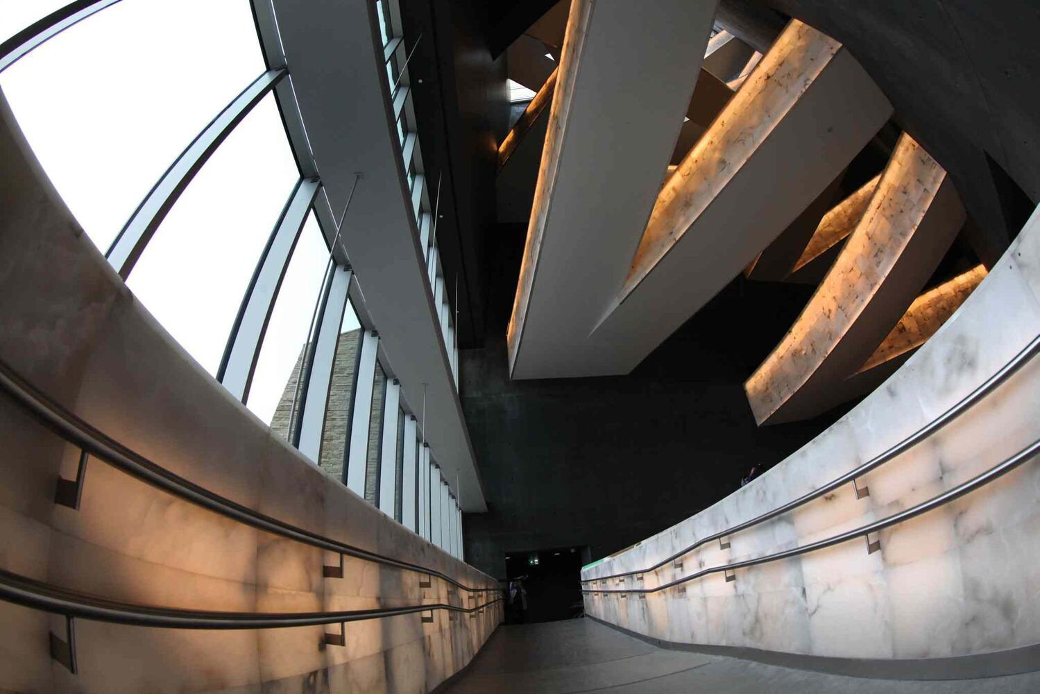 Another view of the alabaster ramps. (Ruth Bonneville / Winnipeg Free Press)