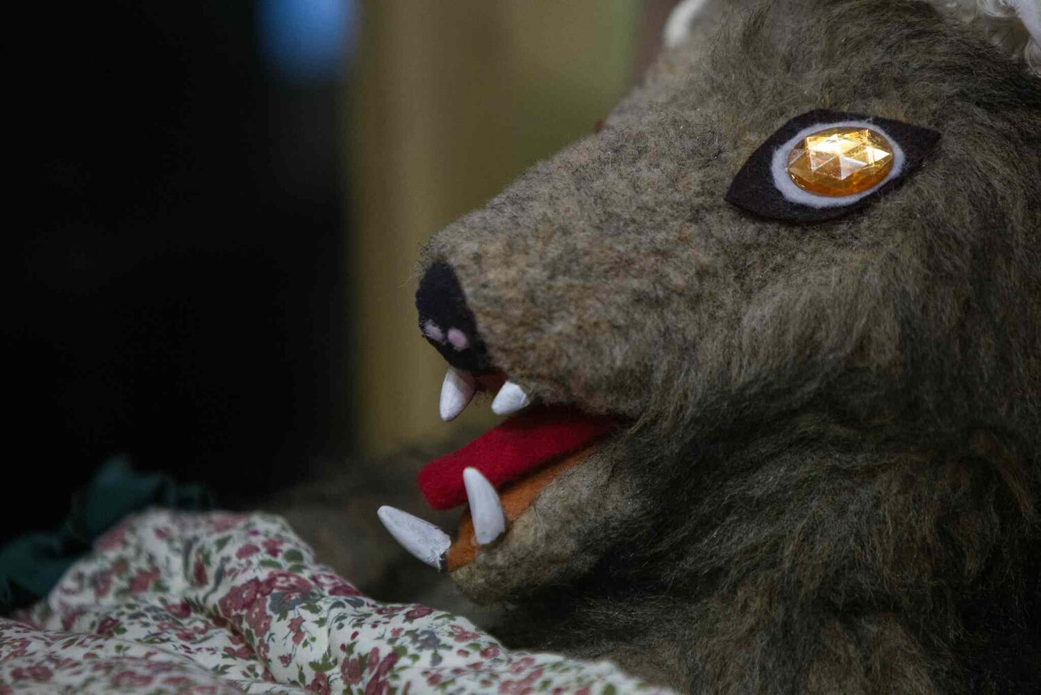 The wolf in the Little Red Riding Hood display. (MIKE DEAL / WINNIPEG FREE PRESS)