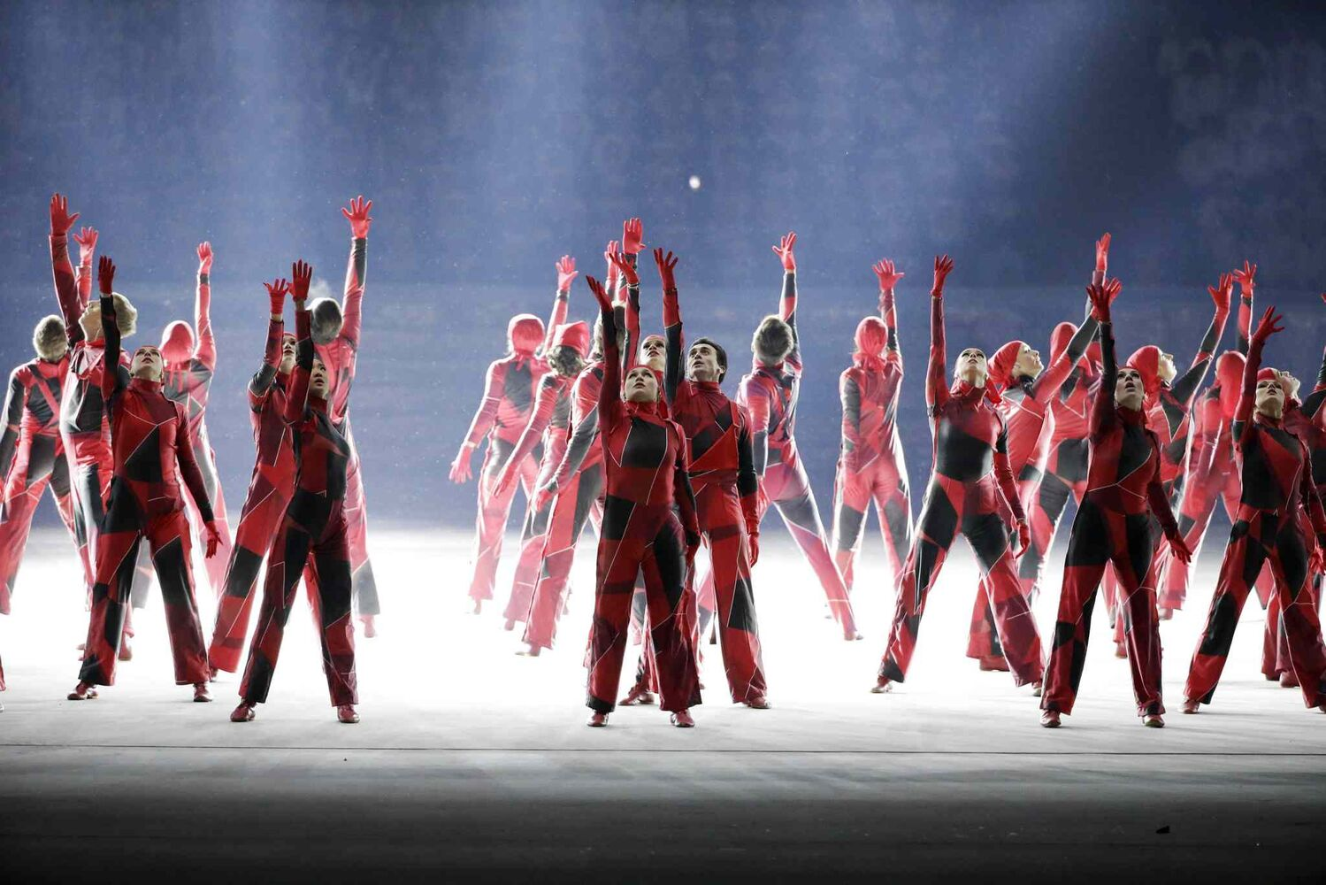 Dancers perform during the opening ceremony of the 2014 Winter Olympics in Sochi, Russia, Friday, Feb. 7, 2014. (AP Photo/Mark Humphrey)