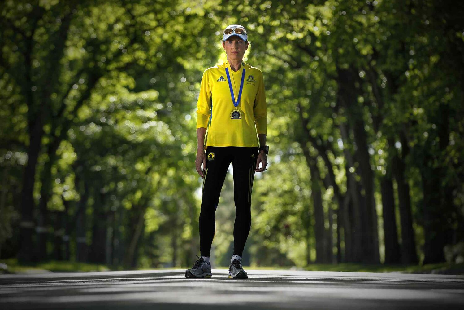 Melanie Sifton, a marathoner who finished a few minutes before the bombs went off in Boston, is photographed on Wellington Crescent June 11, 2013.