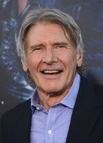 FILE - In this Monday, Aug. 11, 2014 file photo, Harrison Ford arrives at the premiere of