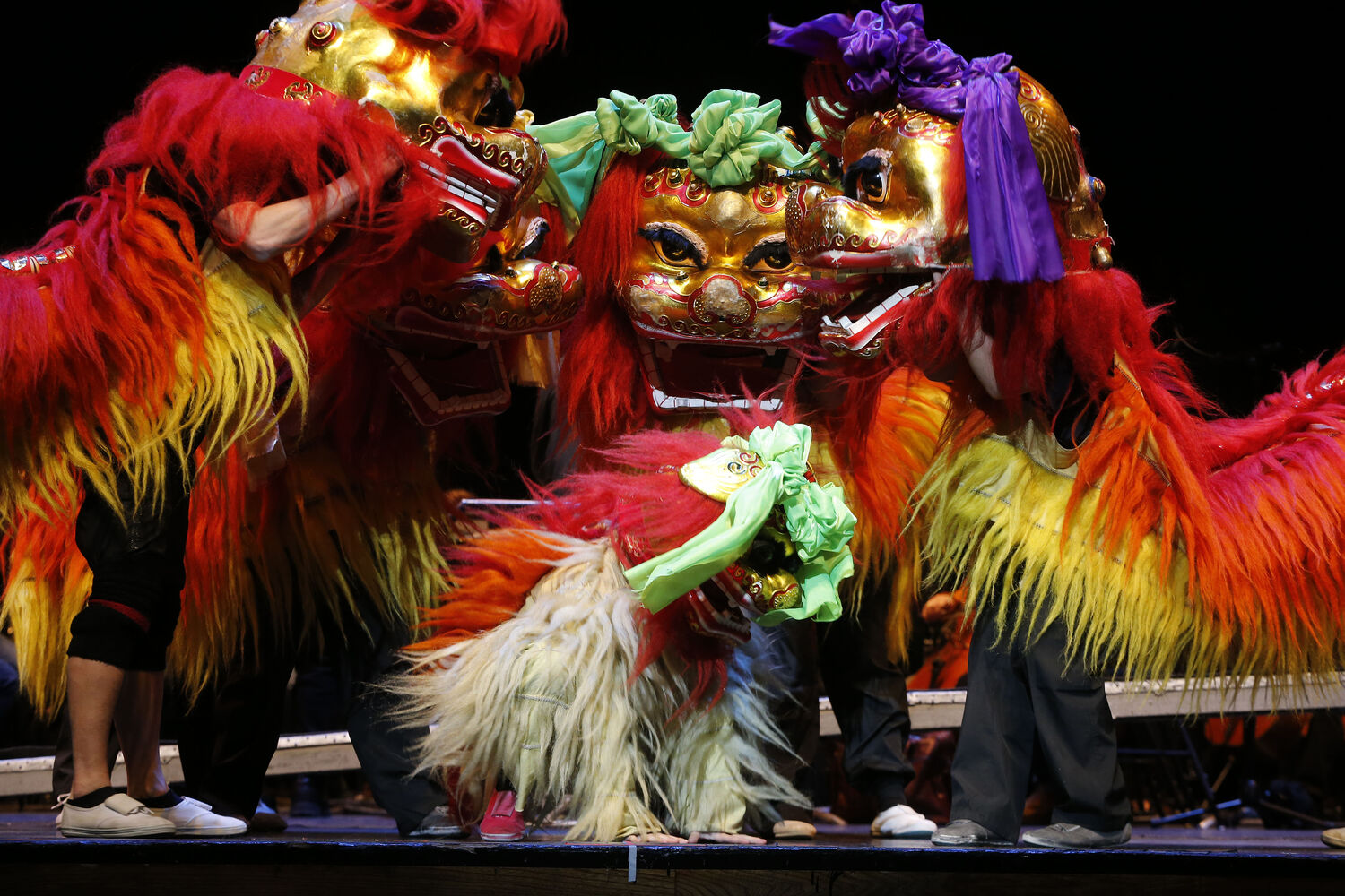 The Peking Acrobats perform a Dragon Dance.