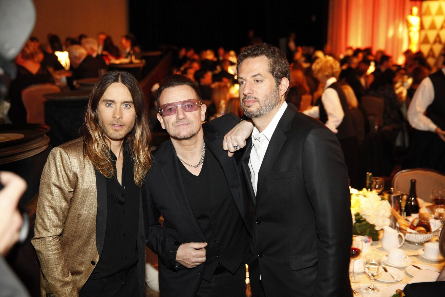 Jared Leto and Bono are nominated for Best Supporting Actor and Best Original Song, respectively.