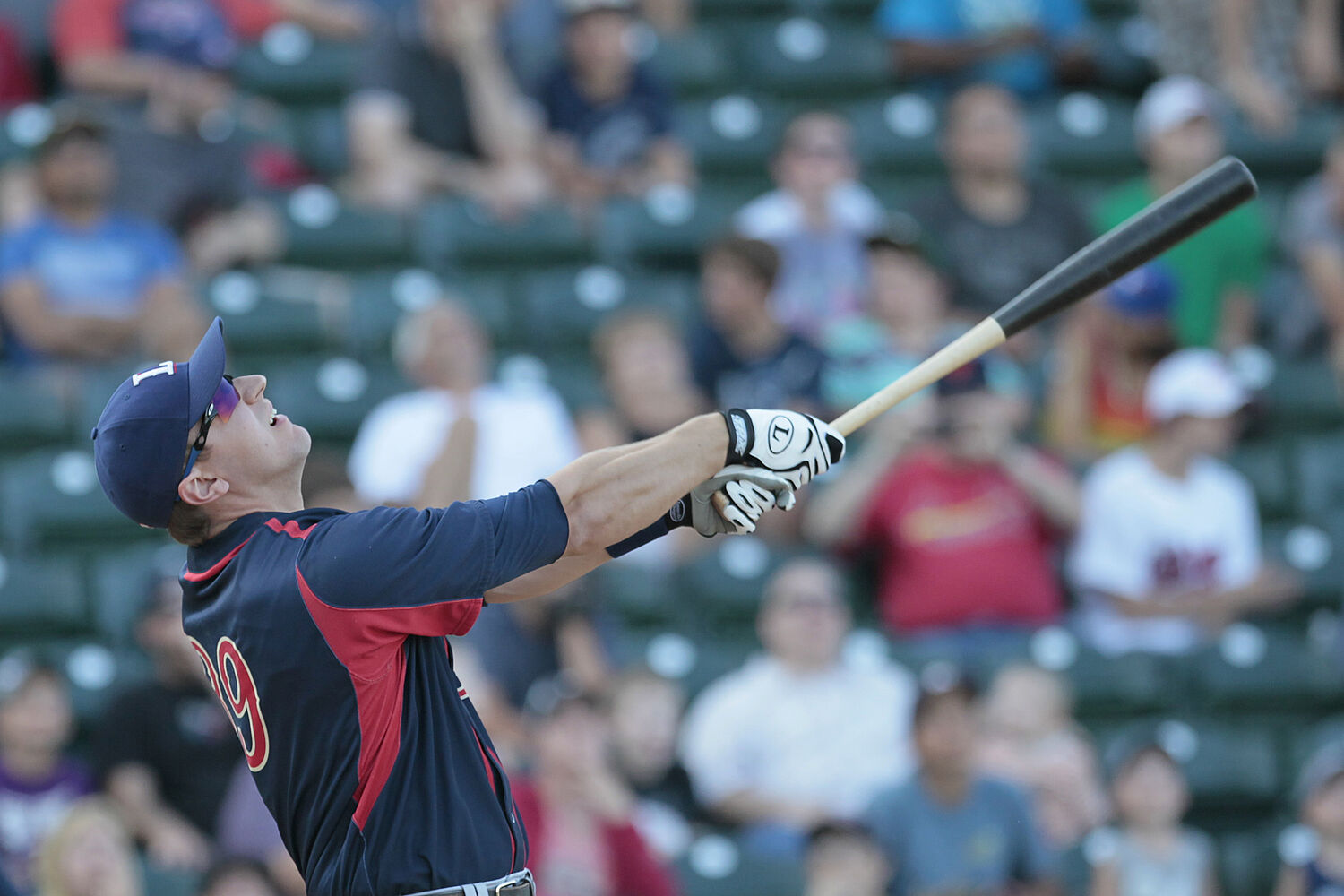Ian Gac of the Lincoln Saltdogs bats at the All Stars Skills Competition. (John Woods / Winnipeg Free Press)