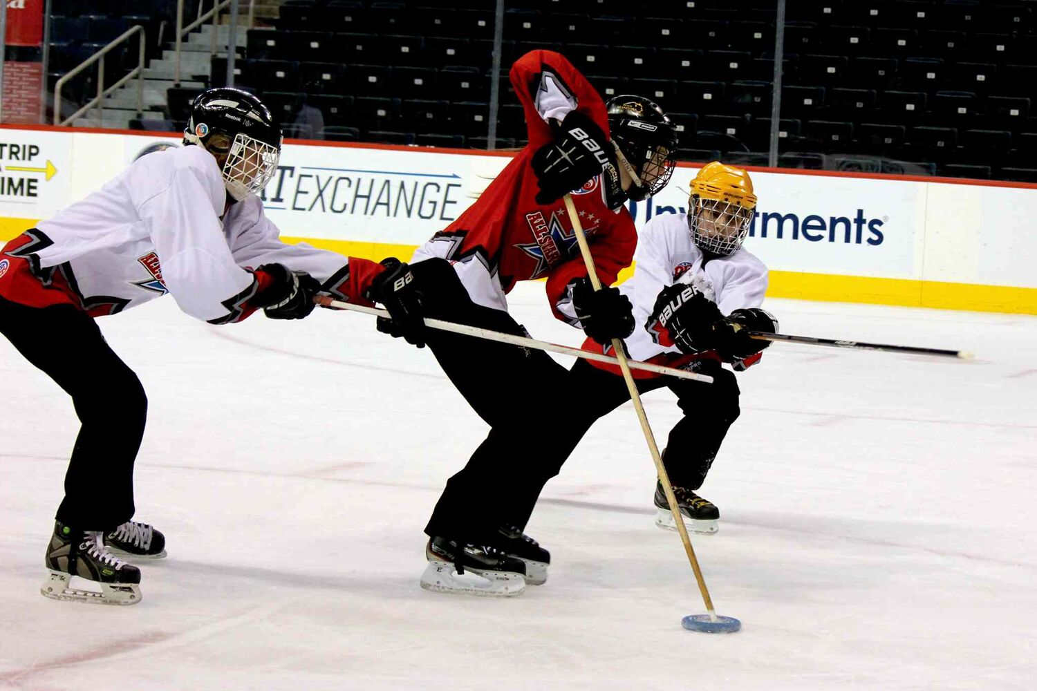 February 5, 2014 - Winnipeg Ringette League's all-star game at the MTS Centre.  (Jordan Thompson)