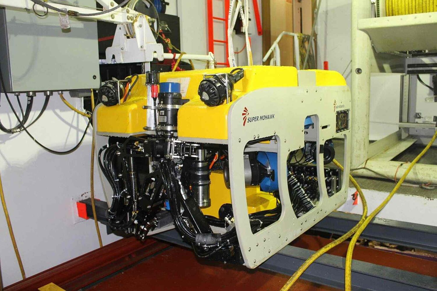 ArcticNet's Remote Operated Vehicle (ROV), which helped locate the sunken Canadian Coast Guard helicopter  (Transportation Safety Board of Canada )