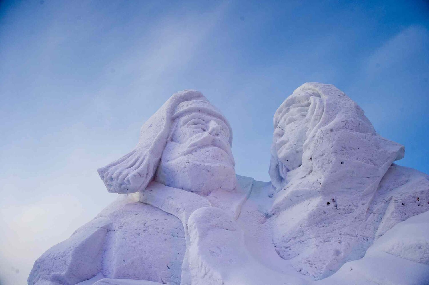 It was perfect weather for Festival du Voyageur's snow sculptures on Saturday.