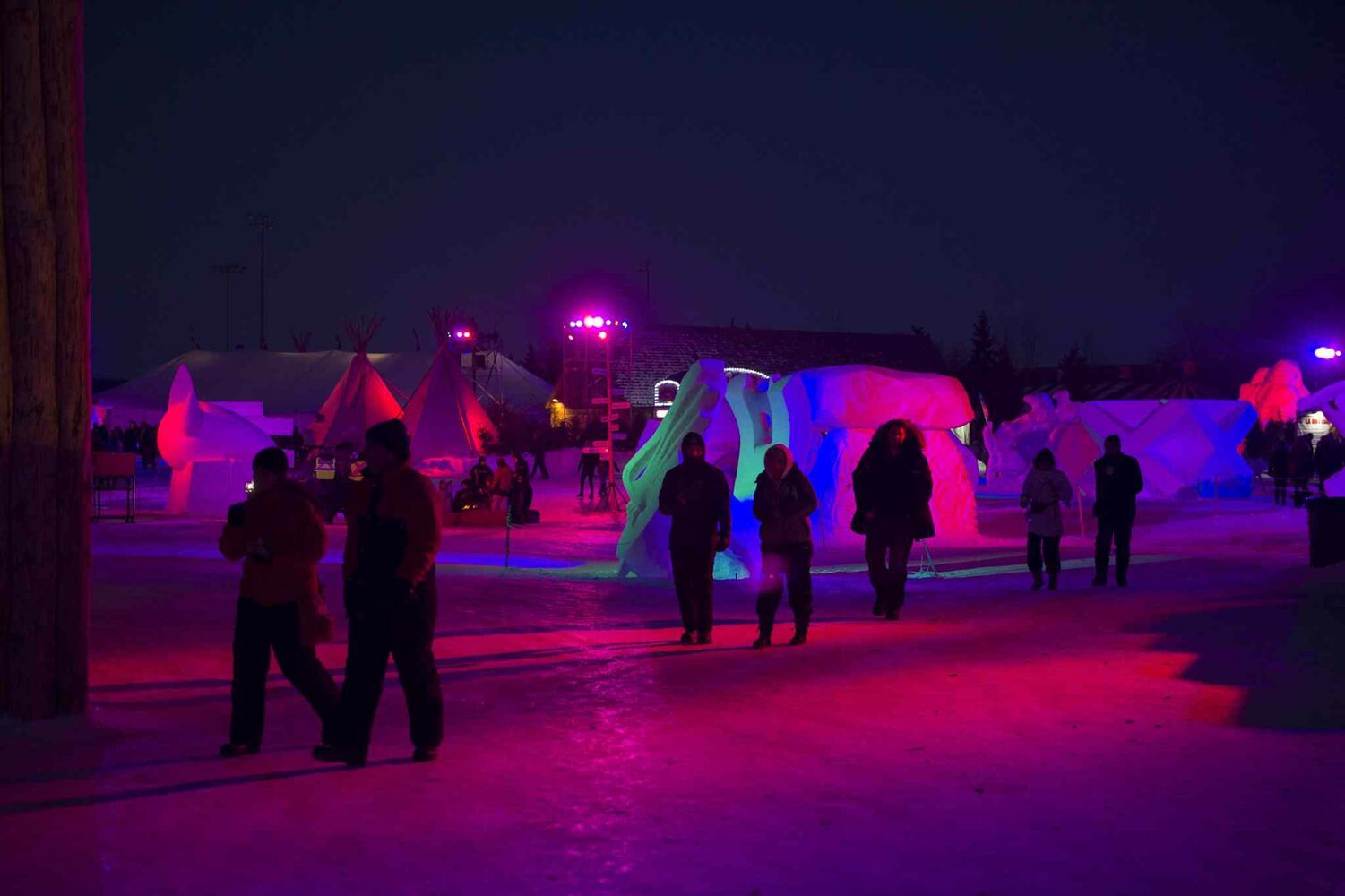 The Festival du Voyageur was a popular place to be Saturday night. The 10-day festival wraps up Sunday, Feb. 23.