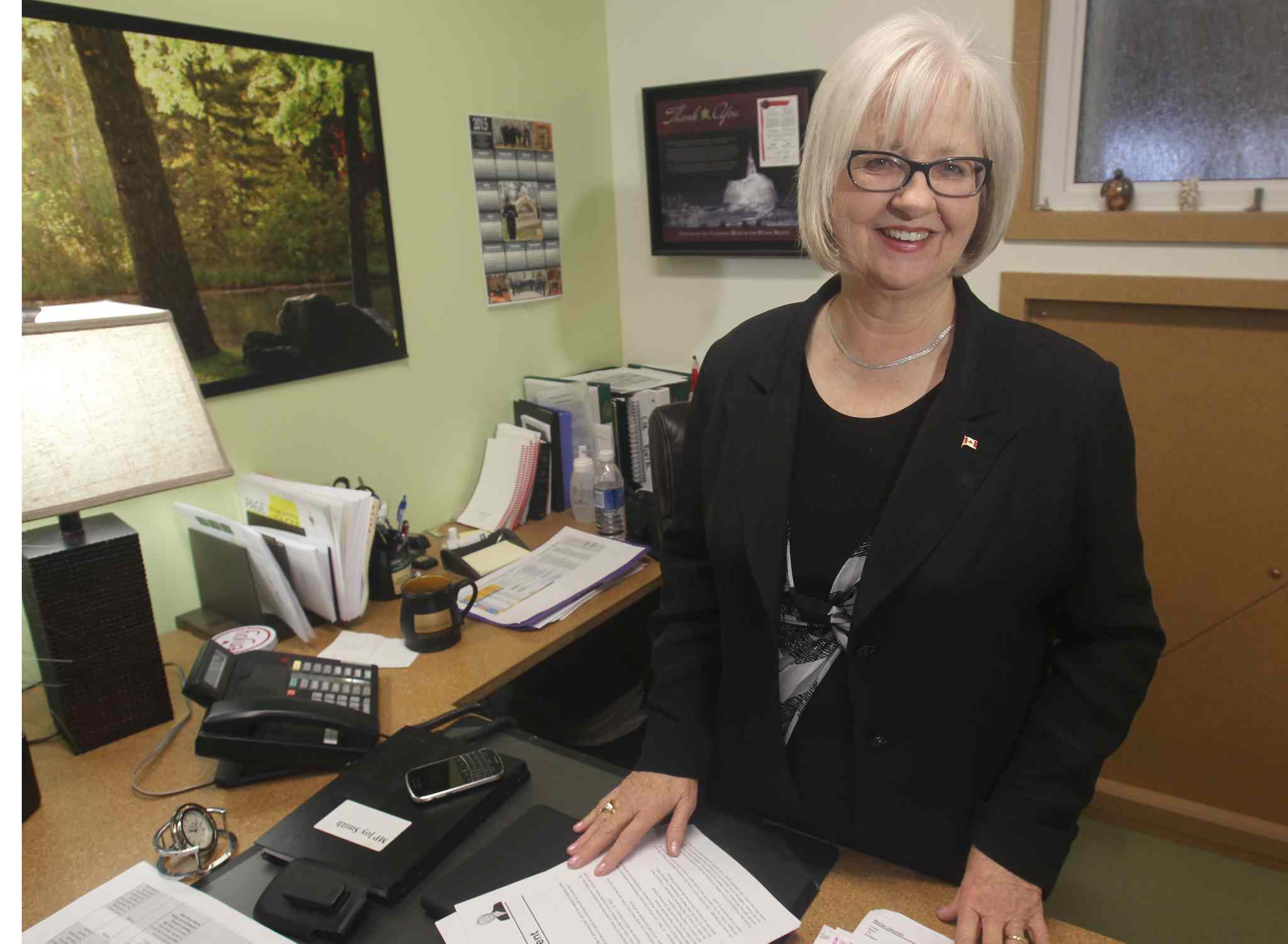 After four terms, MP Joy Smith has decided not to run in the next federal election.