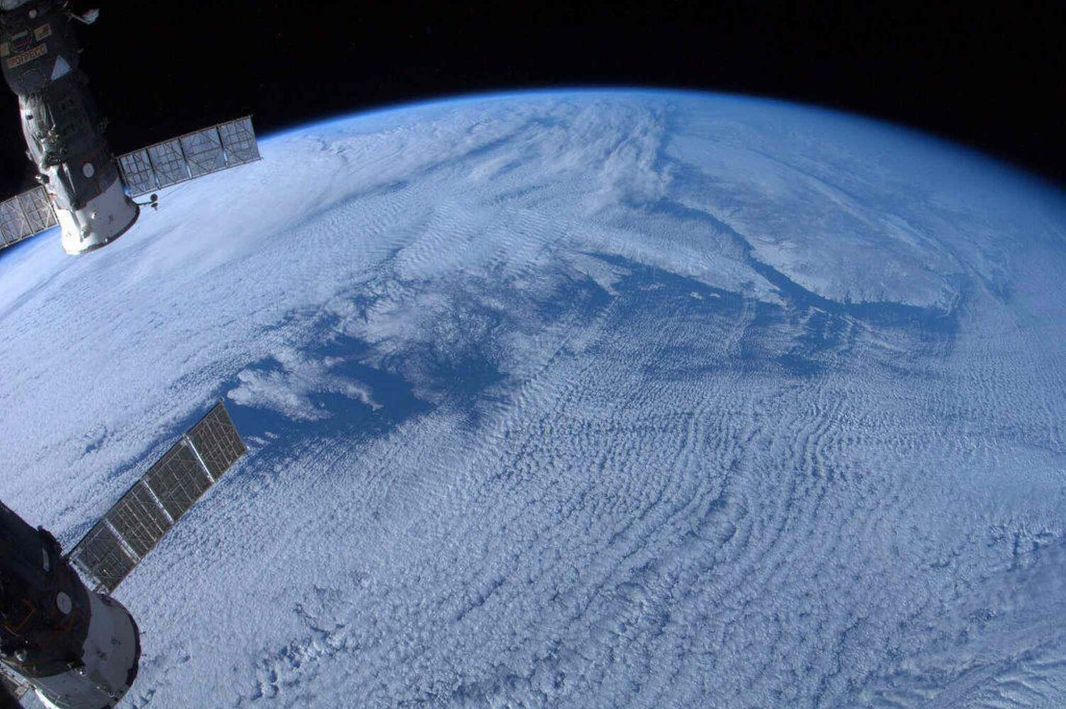Newfoundland and Labrador, shot without a zoom lens, is shown in a photo posted on Twitter on Jan. 7, 2013 by Canadian astronaut Chris Hadfield. THE CANADIAN PRESS/Chris Hadfield, NASA, via Twitter (Chris Hadfield / NASA / The Canadian Press archives)
