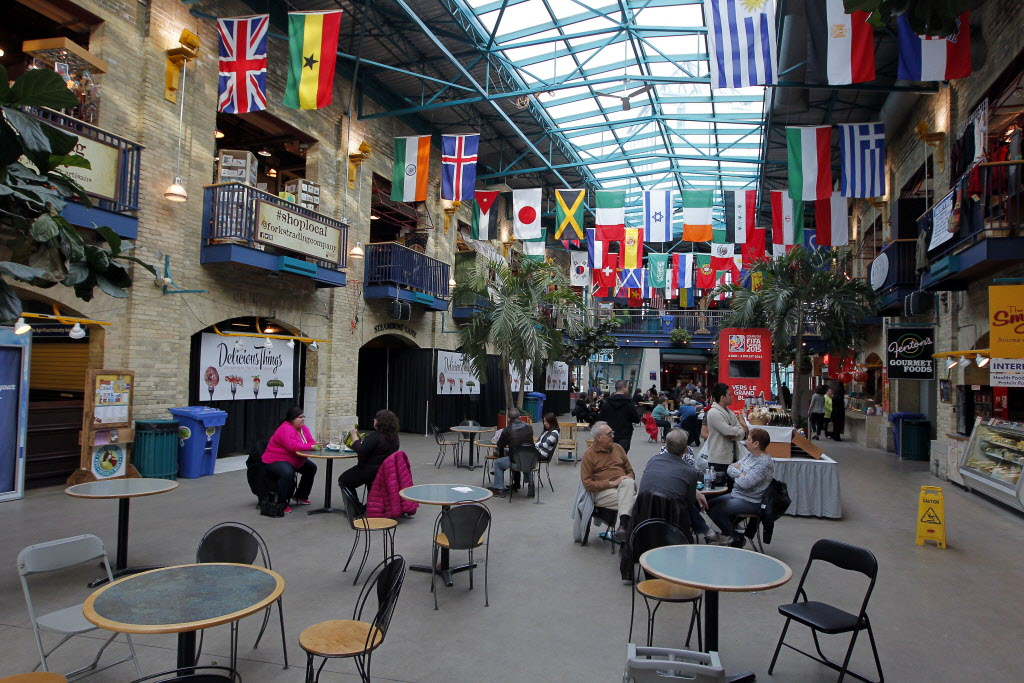 The Forks Market food courts.