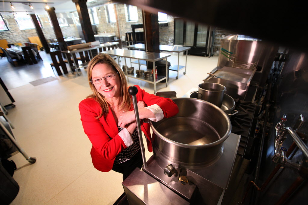 Sheila Bennett in her new commercial kitchen, which is in a downtown heritage building. She plans to rent it to food producers, caterers and private chefs.