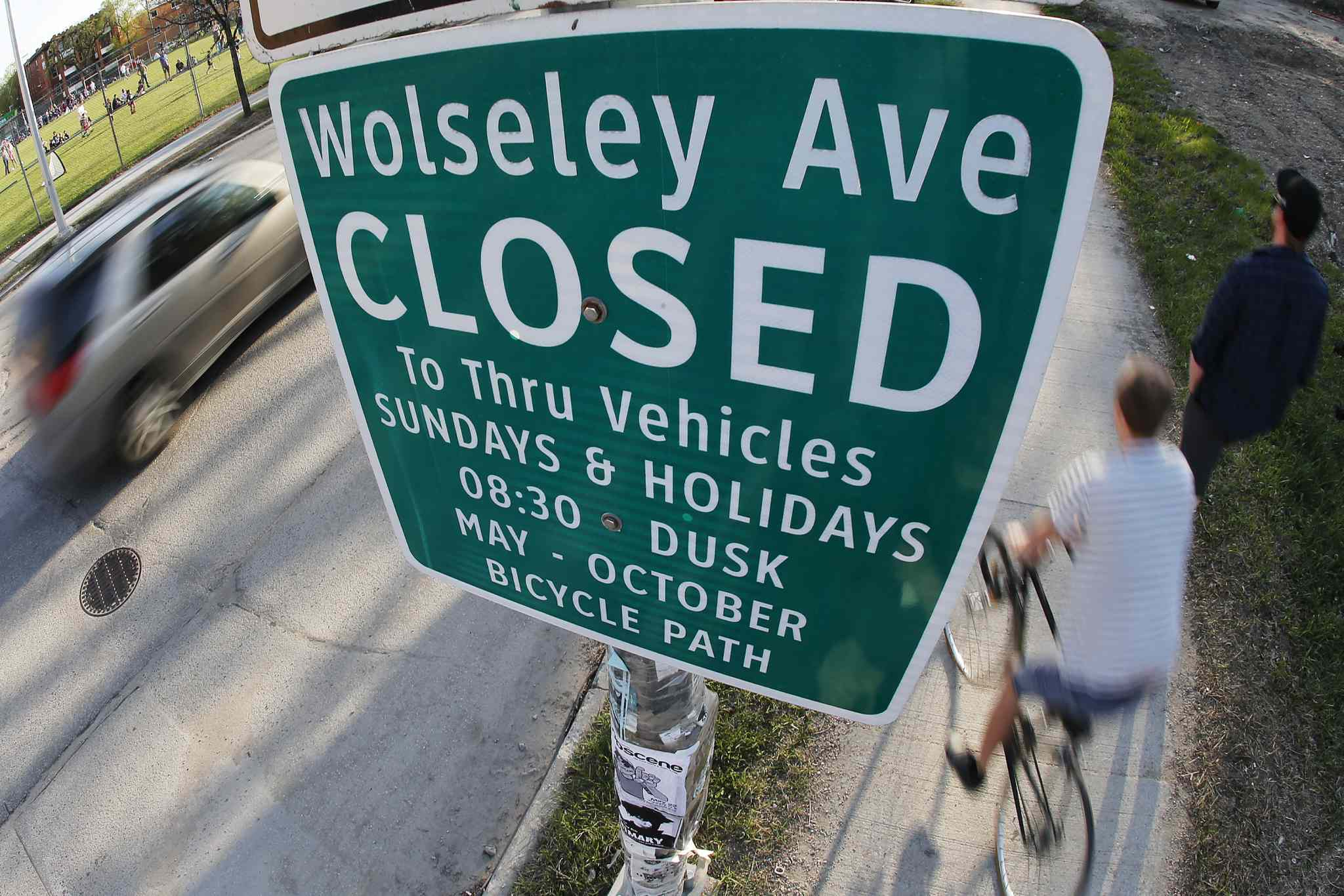 Police will ticket drivers who travel more than one block on designated bike routes on Sundays and holidays beginning May 24. Right now, there is no fine attached to the infraction.