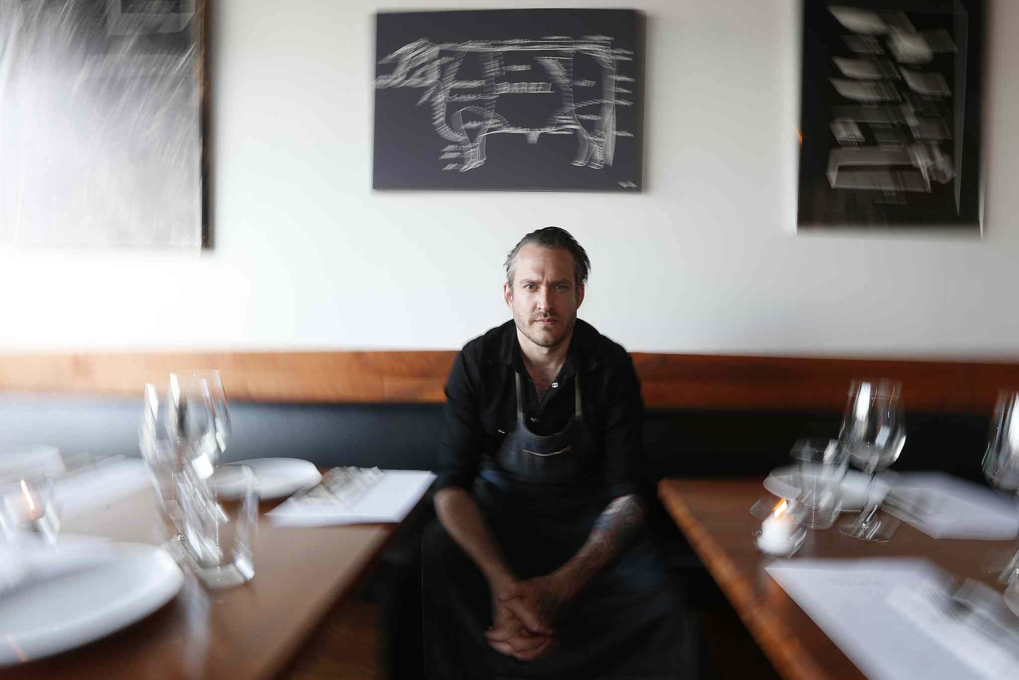 Scott Bagshaw, owner of Enoteca, in his new restaurant.