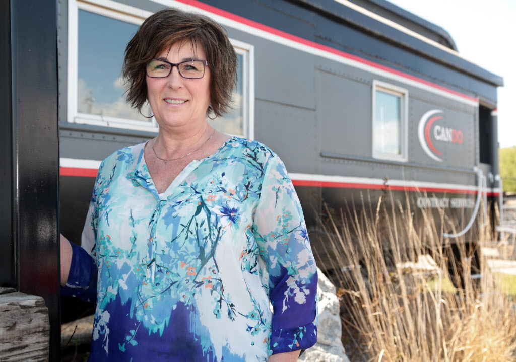 Judy Spackman works at Cando Rail Services Ltd. in Brandon's industrial park. The firm offers employees shares in the company.