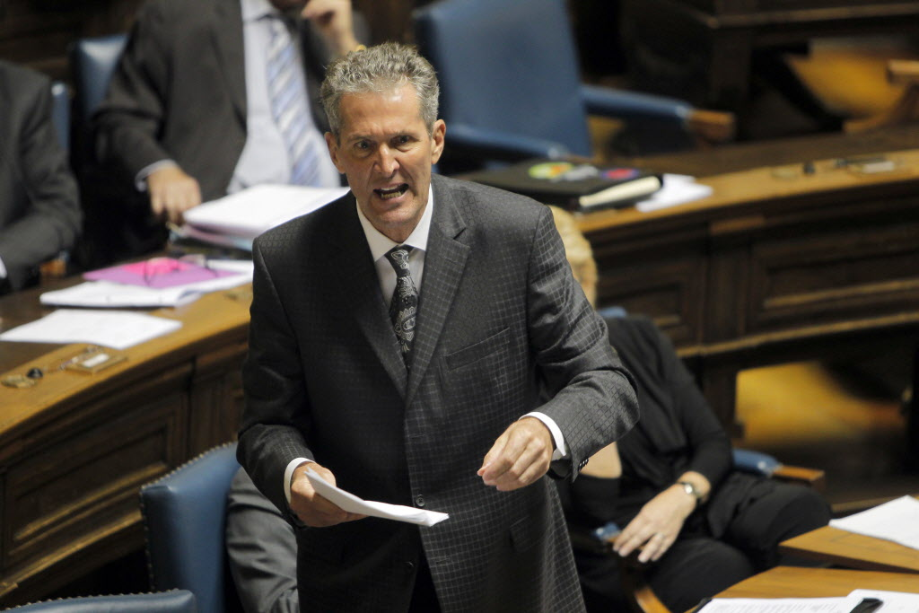 Brian Pallister in the house during question period on May 26.