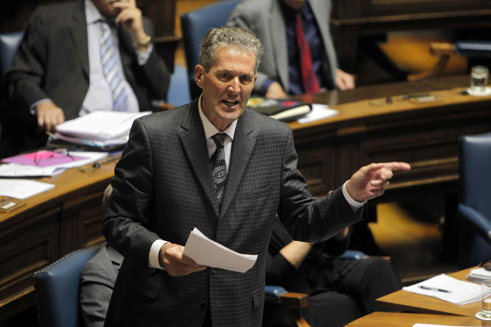 Brian Pallister in the house during question period.