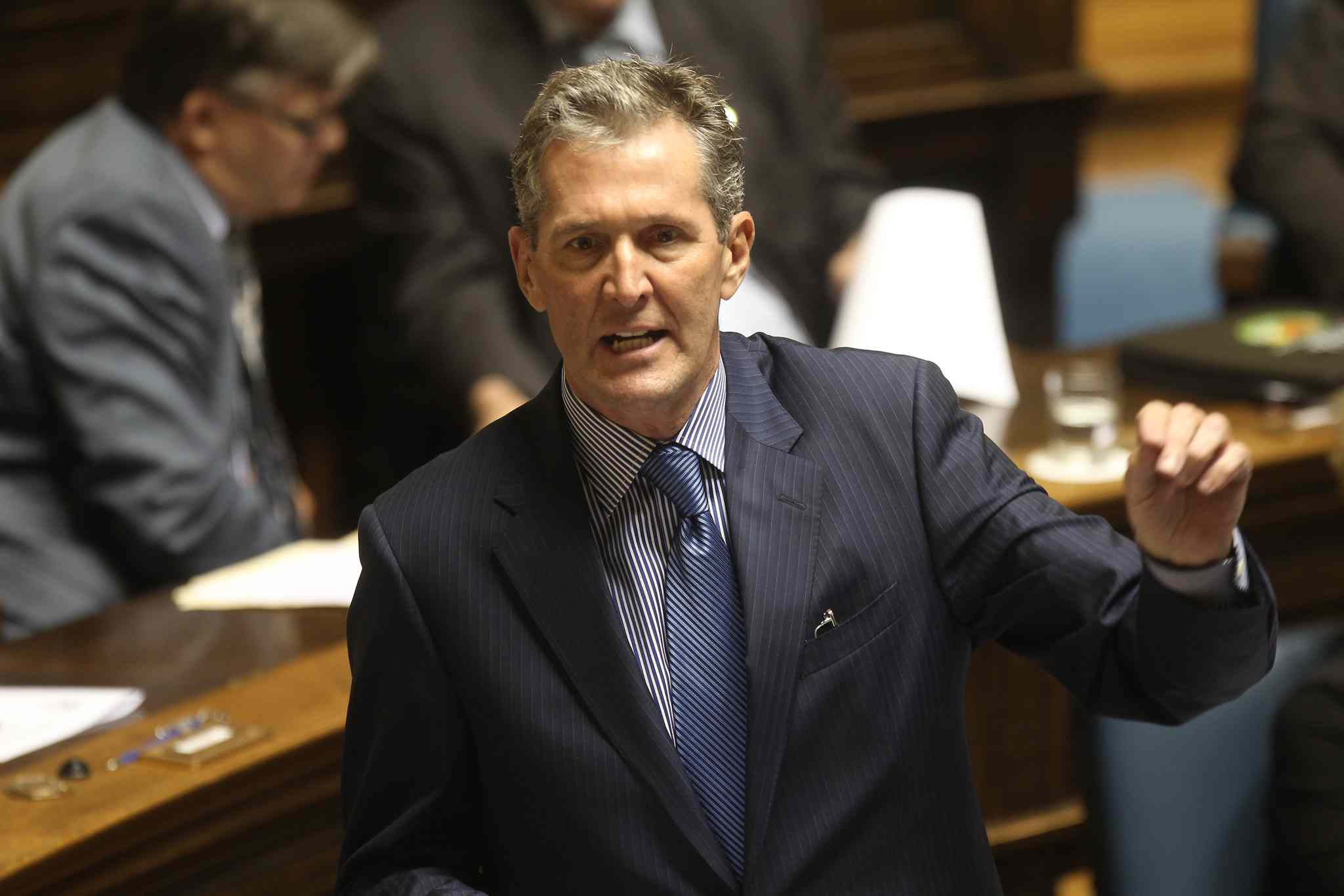 'I think that team building is essential and partnerships are essential, but you don't have to look any further than the dissent within the NDP government to have a powerful sense of disquiet about the ability of this government to work as a team themselves,' Conservative Leader Brian Pallister said today.