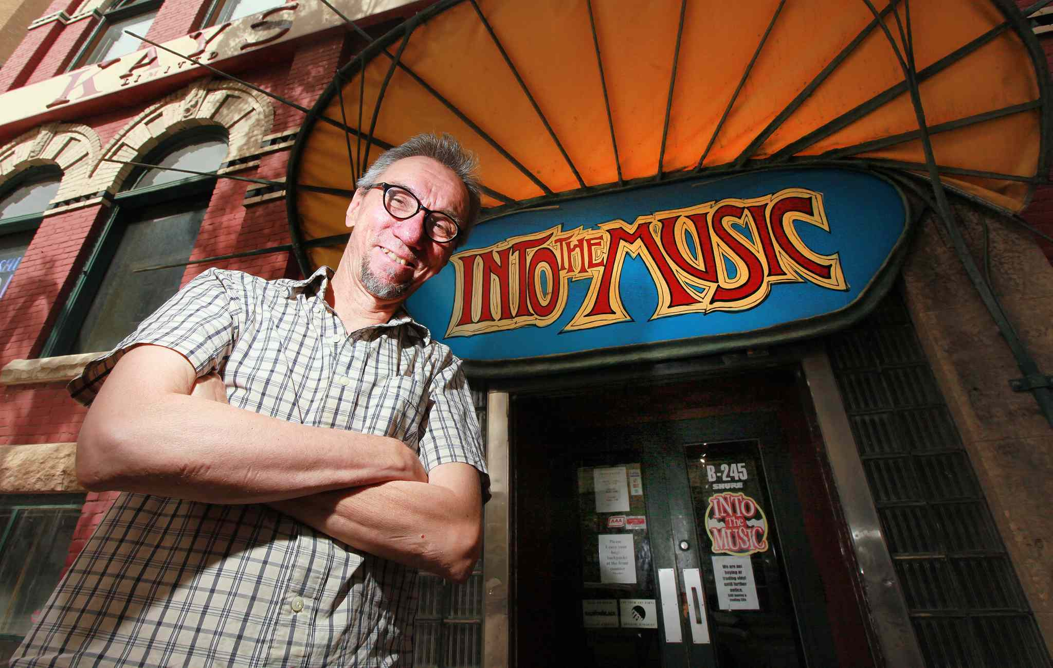 Greg Tonn's store Into the Music is one of Winnipeg's oldest and most loved used record stores, with a huge selection of merchandise and a loyal customer base.
