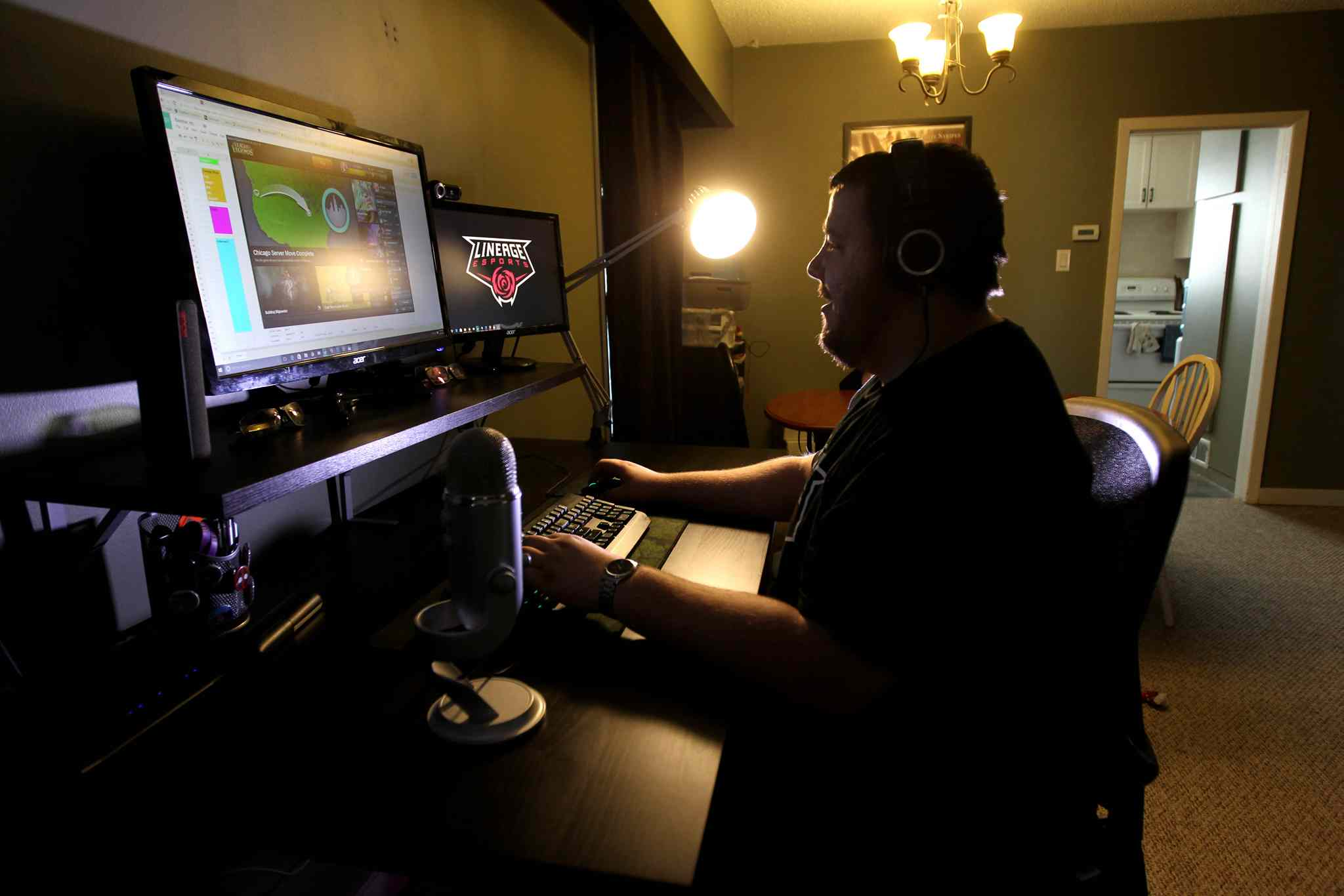 Graeme Carlson is a  team owner in eSports business, professional video game playing and is looking to own a League of Legends team to try and make it big in the eSports business. (Ruth Bonneville / Winnipeg Free Press)