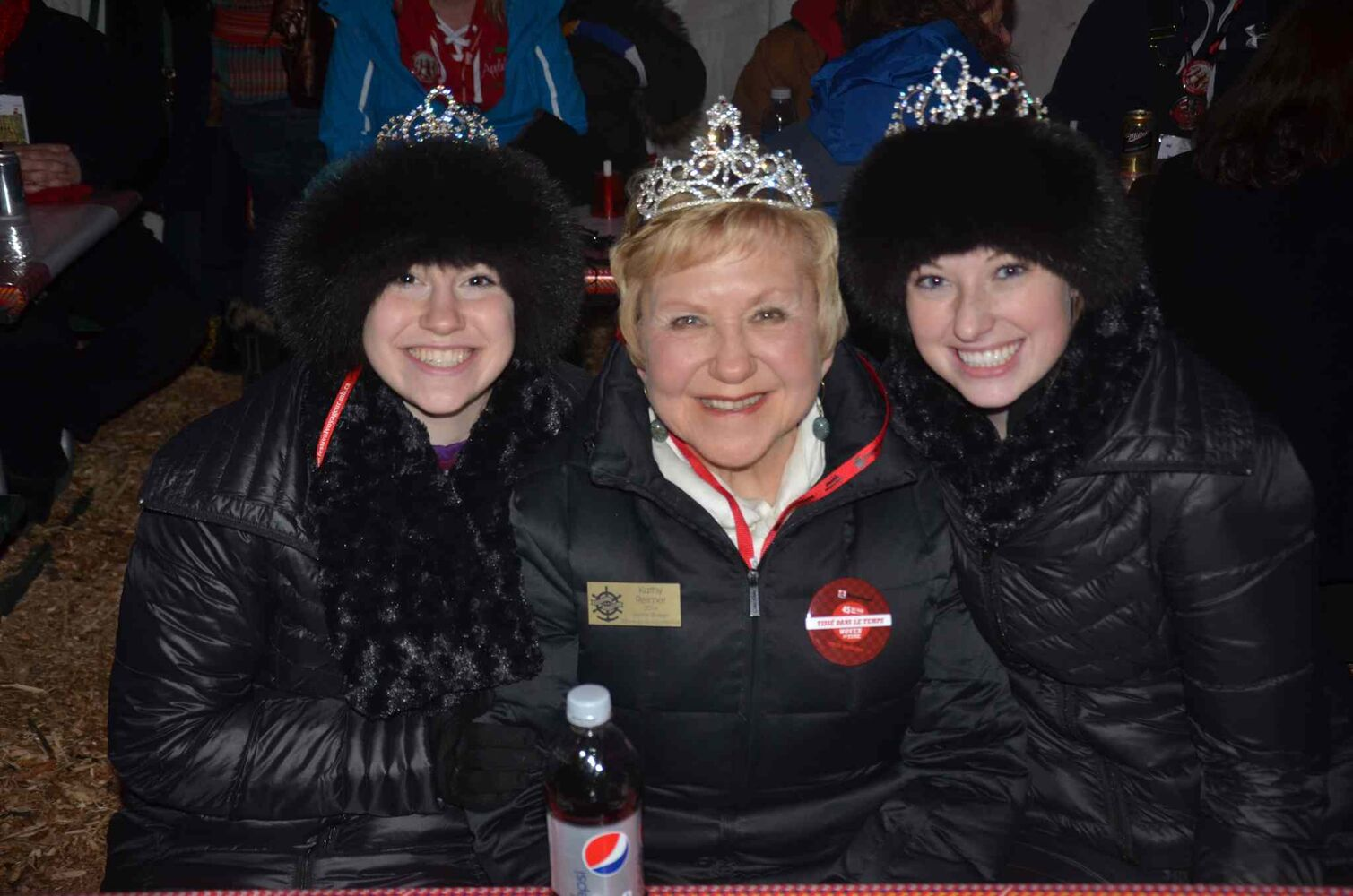 Senior Snow Queen Kathy Reimer and two Snow Princesses from Minneapolis