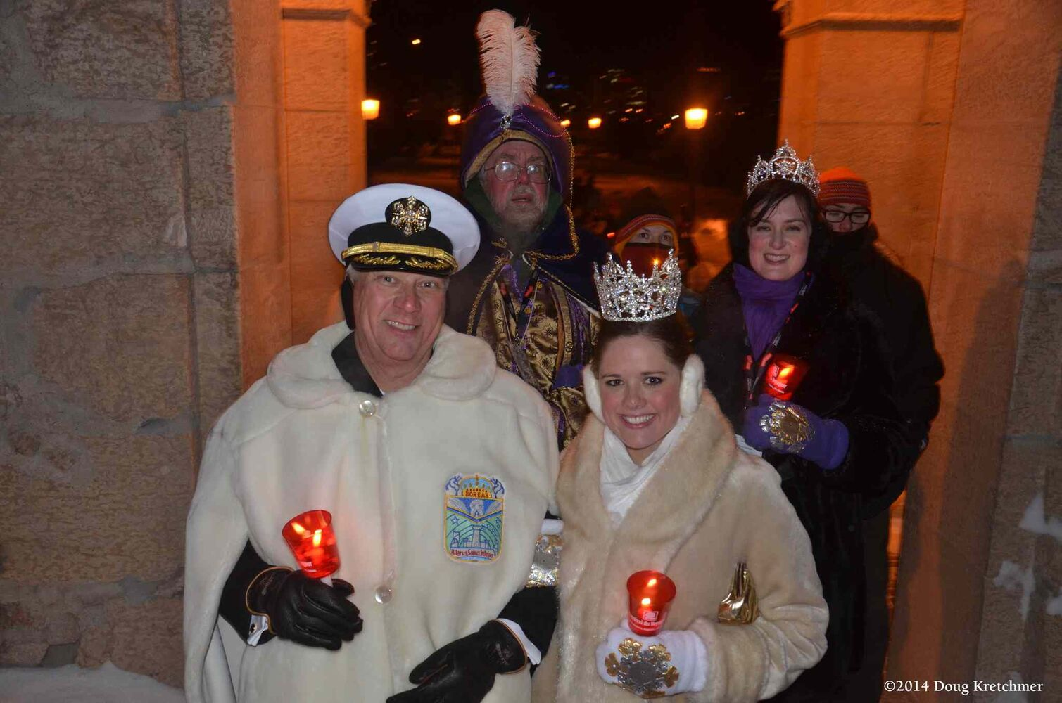 The torchlight March, led by police officers in buffalo fur coats, began at The Forks and went all the way to St. Boniface Cathedral and the grave of Louis Riel before ending at Voyageur Park. (Doug Kretchmer / CNC)